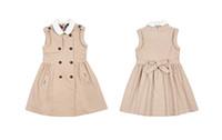 Baby Girls dresses children 100%cotton sleeveless summer dre...
