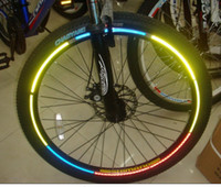 Wholesale MTB Bike Bicycle Fluorescent Cycling Wheel Rim Reflective warning Decal Decoration Sticker Stickers for Outdoor Sports