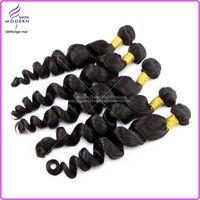 Wholesale Unprocessed Pieces Virgin Brazilian Human Hair Weaves Remy Human Loose Wave Extension Natural B g pc Virgin Brazilian Hair Weaves