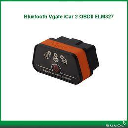 Wholesale 2015 Elm Vgate Bluetooth iCar OBDII ELM327 iCar2 Bluetooth vgate OBD diagnostic interface