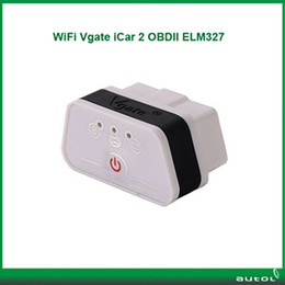 Wholesale 2014 Newest Vgate iCar2 Vgate icar Wifi ELM327 OBDMuliscanOBDII Wifi ELM Car Diagnostic interface support Android and IOS