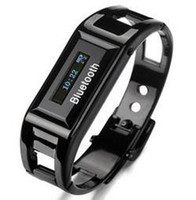Unisex vibrating bracelet - Bluetooth vibrating bracelet watch Clock with call ID amp proximity alert Steel
