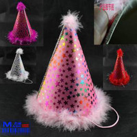 Wholesale Sheng Quansheng Day party supplies EVA cloth bag with cashmere princess hat birthday hat birthday hat six color