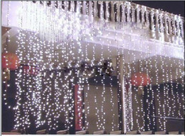 6Mx3M 600 LEDs Lighting Curtain LED string Waterfall LED light Background Light Christmas Light party led light
