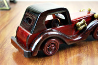 Wholesale inch retro vintage car wooden model car gifts crafts gifts high grade luxurious