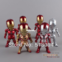 Wholesale Marvel Superheros Mini Egg Attack Iron Man PVC Action Figure Collection Toy set HRFG124