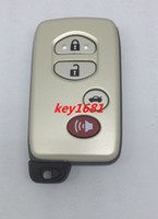 toyota car remote key - High quality Button Remote Smart Card Shell car key for Toyota Button With The Smart Key Blade
