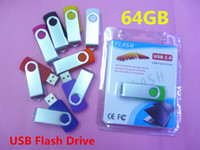 Wholesale hot GB swivel custom USB Flash Memory Pen Drives Sticks Disks Discs GB usb flash drive GB usb stick disk free dhl