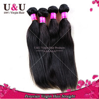 100g Peruvian Hair Natural Color 5A Unprocessed 3 and 4pcs lot Peruvian Virgin Hair Straight Human Hair Weave Peruvain Hair Extension Wholesale Can Dyed And Bleached