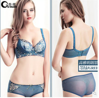Bra Sets Lace Normal Massage oil water bag bra women gather small chest deep v lace sexy lingerie bra set