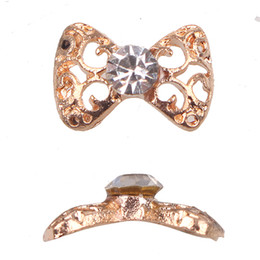 Wholesale New X9mm Bow Tie Bowknot Nail Art D Alloy Nail Decals Design Decoration