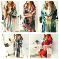 Wholesale 2014 new fashion classic style plaid scarves lady scarves autumn and winter warm scarf women H6031