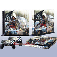For PlayStation Vita 100%  New Yes Wholesale Assassin's Creed 4 Decal Skin Stickers For Playstation 4 PS4 Console + 2 Pcs Stickers For PS4 Controller