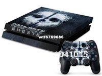 For PlayStation Vita   Ghost Call For Duty Skin Sticker For PlayStation 4 PS4 Console + 2Pcs Free Controller Cover Decals