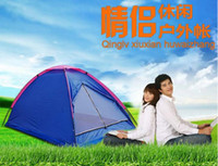 Wholesale High quality Outdoor casual camping tent double single tier Folding waterproof tendon tent lovers tents