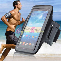 For Samsung Leather  Galaxy Mega 6.3 Sport Gym Running Armband Protector Belt Soft Case Bag Pouch Cover for Samsung i9200 i9208