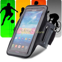 For Samsung Leather  For Galaxy Mega 6.3 Sport Gym Running Armband Waterproof Belt Soft Case Cover Pouch For Samsung i9200 i9208