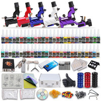 Wholesale USA Dispatch tattoo guns machines kits inks sets power supply grips tips disposable needles with pedal clip cord MKD1DH