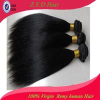 Brazilian Hair Straight yes Cheapest Unprocessed Brazilian Virgin Hair Extension Straight Queen Hair Products Human Hair Weaving 100g bundle 3pcs lot Free Fedex