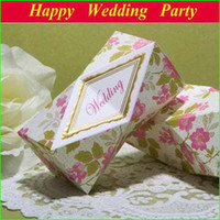 Wholesale Elegant Lase cut candy gift boxes with ribbon pink paper weddng favor wedding party decoration