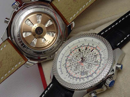 Luxury Mens Wristwatches Brown Genuine Leather Date Watch Swiss 1884 Stopwatch Modern Men Quartz Sport Chronograph Stainless Watches Man Hot