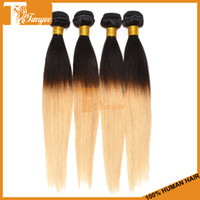 Mongolian Hair Straight 6A Remy Hair, Ombre Hair Hot Sell Tanyee Hair 6A Brazilian Peruvian Malaysian Indian Mongolian Straight Hair 3pcs Lot Virgin Hair Weft Ombre Hair Blonde Color 1B 613