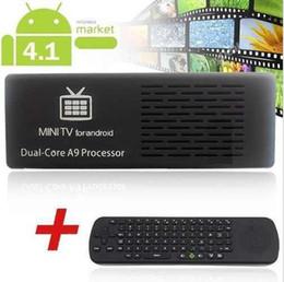 Promotion 8gb wifi MK808-B Bluetooth Android 4.1.1 Dual Core 8GB RK3066 WiFi Mini PC TV Box bâton de cardmate