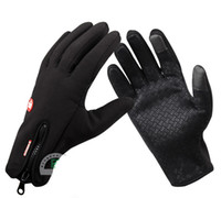 Wholesale 2014 Outdoor Weatherization Windproof Gloves Riding Touchscreen Gloves Black Warm Ski Gloves protective gear and equipment