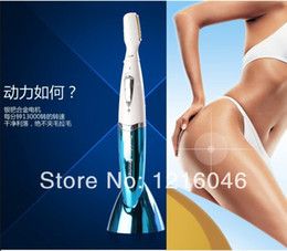 Wholesale Ms genuine electric male genitals pussy shaving knife trimmer shaver epilator female pubic hair shaving eyebrow eyebrows