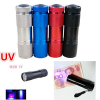Other 450lm LED Flashlight LED UV Flashlight 9LED Mini Torch UV Light 395-400nm Ultra Violet Light Purple Light Torch LED Flashlight Light Check Money Ticket UV Torch