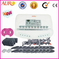 AU-6804B 110V/220V  Russian wave Weight Loss Electric Muscle Stimulator EMS slimming fat removal beauty machine CE approval AU-6804B