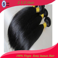 Brazilian Hair Straight yes Straight Unprocessed Brazilian Virgin Hair Extension Queen Hair Products Human Hair Weaving 100g bundle 4pcs lot Free Shipping
