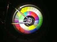 Road Bikes abs warning - MTB Bike Bicycle Cycling wheel reflective warning Colorful spoke ring Sticker equipment