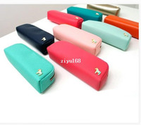 Cosmetic Cases Yes Solid Free shipping Fashion PU Bag Makeup cosmetic Brush Bag in Bag Pen Case Organizer Pouch Storage bags PU Pencil Bag