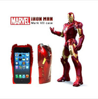 Wholesale TOP AAAAA D IRON MAN Hard Case Cover for iPhone G Red COOL in part Plastic Back Shell Protector hero Original Packing DHL FREE