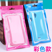 Universal   Wholesale - Plastic PC Retail Bag Box Package Pouch Packaging Universal Cable Charger Case Cover For Iphone 4 4S 5 5S 5C Samsung Galaxy S3 S