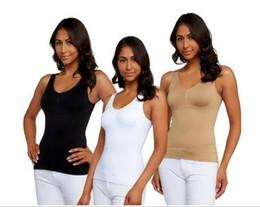 Wholesale Women Fashion Sexy sjapers Ms Seamless cami shaper by genie Beautiful body model body underwear Belly in double vest colors sizes