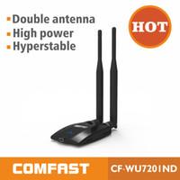 Wholesale 2pcs Dbi antenna High gain power USB wireless Adapter Long range WIFI adapter Latest RALINK RT3070L Comfast CF WU7201ND