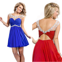 New Under $100 Sheer Homecoming Dress 2014 Crystal Vintage C...