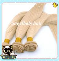 Brazilian Hair Straight #613 GradeAAAAA Brazilian Straight Hair Weft 100% Virgin Remy Human Hair Extensions Color #613 8''--32'' 3 pcs lot DHL Free Shipping