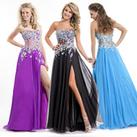 See Through Formal Bling 2014 Evening Purple Blue Black New ...
