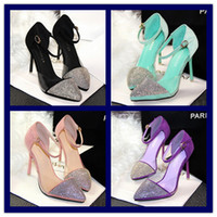 Wholesale Fashion Sandals Women s Famous Brands Shoes Girl s Wedding Party Shoe Lady s Korean Sweet High Heel shoes Womens Elegance new shoes One Pair