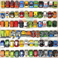 Plastic Diecast Pull Back Wholesale - Racing car toy, baby toy mini cars, children back of the vehicle, the police car, fire truck toy