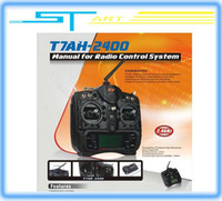 Helicopters other Plastic 2.4Ghz FHSS ZD T7AH-2400 7CH LCD screen Radio Control RC transmitter & receiver For rc Airplane Helicopter Glider Freeshipping