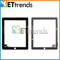 Wholesale Digitizer Touch Screen Pannel Touch Screen Only for Apple iPad Black White Glass Repair Part Replacement AA0063