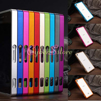 Wholesale For Sony Xperia Z2 Case Top Grade Push Pull Aluminum Alloy Metal Frame Bumper Hard Case Cover For Sony Xperia Z2 D6503 L50w