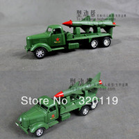Plastic 104 Diecast Free shipping military toys inertial-forces 8'' military vehicles single-missile rocket-gun car model children toys