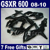 For Suzuki gsxr 600 fairing - Low price Fairing kit for SUZUKI GSX R K8 GSXR GSXR all glossy black ABS fairings set BT43 gifts