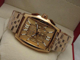 Modern Mens Quartz Chronograph Watches Luxury Rose Gold Face Swiss Designer Men Stainless Steel Watch Buckles 1884 Date Stopwatch Wristwatch