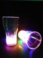 Wholesale ml x8x5 cm Colorful Led Flashing Cup Led Drinkware Glass Led Beer Cocktail For Party Bar L686